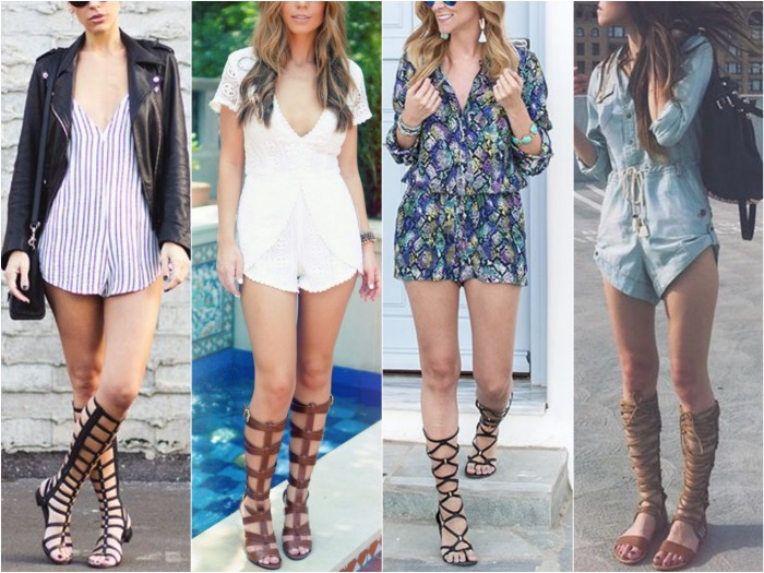 How-to-Wear-Gladiator-Sandals-Romper