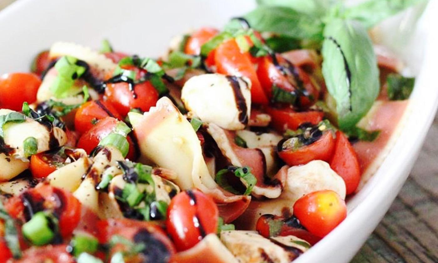 Caprese Pasta Salad // by Becca Whitehead